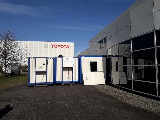 Mobile Küche bei Toyota Parts Center Europe (BE)