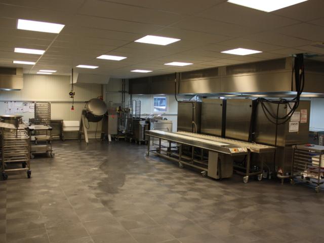 Großküche in Alu-Halle