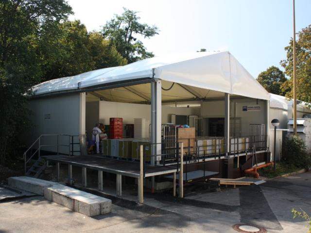 Komplettlösung in Alu-Halle (Anlieferung)