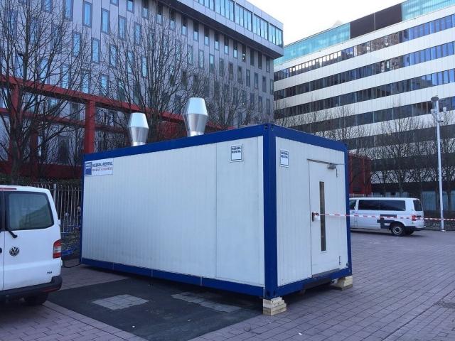 Spülcontainer beim der Messe in Frankfurt (DE)