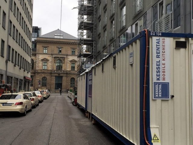 Interimsküche beim Le Méridien Hotel in München (DE)