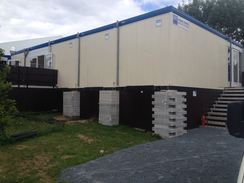 Fundierung Containerküche